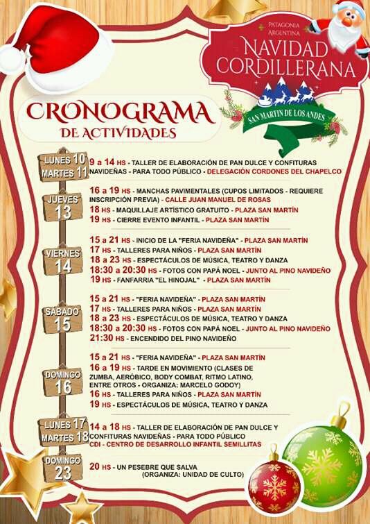 Programación Navidad Cordillerana