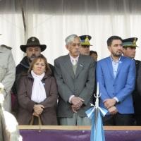 Tuvo lugar en la Plaza San Martín el acto y desfile por el 25 de Mayo