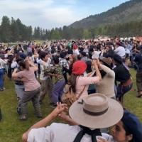 Multitudinaria celebración por el Día de la Tradición